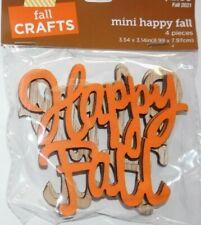 "New FALL CRAFTS:  ""MINI HAPPY FALL ""  4 Pieces  WOOD"