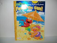Sesame Street- FUN IN THE SUN- Coloring Activity & Stickers 36 Book New