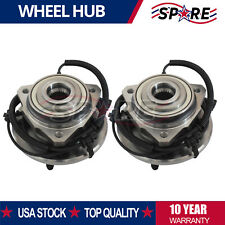 Pair Set of 2 Front Wheel Hubs & Bearings New For 2002-2007 Jeep Liberty w/ Abs