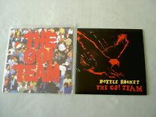 """THE GO! TEAM job lot of 2 7"""" vinyl singles Get It Together! EP Bottle Rocket"""