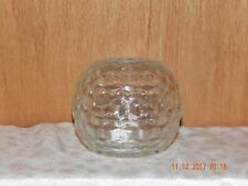 CLEAR 1960'S INDIANA GLASS AMERICAN WHITEHALL COLONY CUBIC 2 PIECE FAIRY LAMP