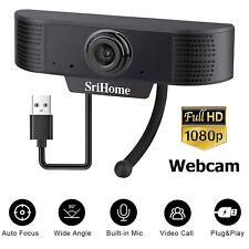 USB Webcam Auto Focusing 1080P HD Cam Microphone For Computer PC Laptop Desktop