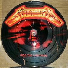 METALLICA RIDE THE LIGHTNING 180 GRAM PICTURE DISC VINYL LP DIE-CUT JACKET, NEW