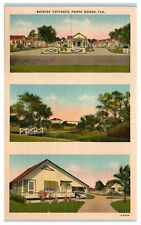 Mid-1900s Bayside Cottages, Punta Gorda, Fl Postcard