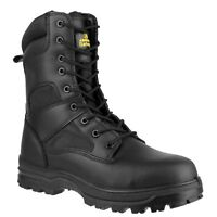 Amblers FS009C Mens Ladies Black Composite Combat Safety Boot |4-14|