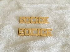 POLICE Collar Brass 1/2 Inch Gold Plated Police Combo Blackinton J116 New