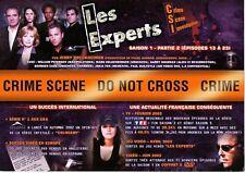"PLAN MEDIA SERIE ""CSI LES EXPERTS LAS VEGAS"" DVD SAISON 1 (2003) FORMAT A4 TBE!"
