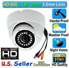 2.1MP 1080P HD SDI SONY Color Night CCTV Dome Outdoor Camera TVI CVBS