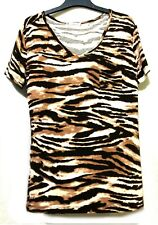 T By Alexander Wang tiger print cotton shirt