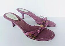 Louis Vuitton Purple Ribboned Strap Slide Slip On Sandals Size 37 1/2 / 7.5