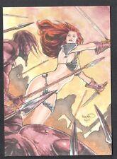 RED SONJA TRADING CARDS (BREYGENT/2012) LINE ART CARD #RS-5 B & ADAM CLEVELAND