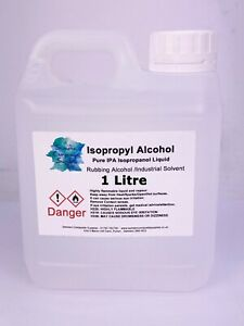 Isopropyl Alcohol 99.9 % Pure IPA Isopropanol Liquid 1 Litre Lab Grade