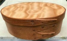 CHERRY AND QUILTED MAPLE SHAKER OVAL BOX---- SIZE # 2