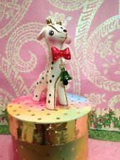 Vtg POLKA DOT Anthropomorphic Giraffe Baby W Dotted Red Bow Tie Jingle Bell