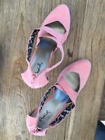 79ecd50b167 New Gianni Bini Women s Pink Solid Floral Sandals Size  10M