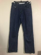 Akoo Jeans Mens Size 32x32 Dark Blue Jeans Excellent Used Condition