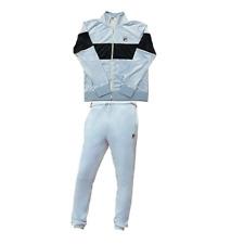 Fila Men Velour Vintage sweatsuit tracksuit Baby Blue & Navy New Sz M L XL 2XL
