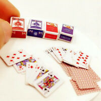 Novelty Miniature Poker Mini 1:12 Dollhouse Playing Cards Doll House Mini Poker
