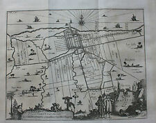 Original antique map Batavia (Jakarta) Indonésie, NIEUHOF/CHURCHILL/Moll, 1744