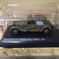 "DIE CAST "" TRACTION 11 BL MILITARE - 1940 "" CITROEN ATLAS  SCALA 1/43"