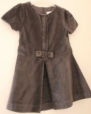 Robe habillée fête cérémonie velours gris Jacadi 4 ans *
