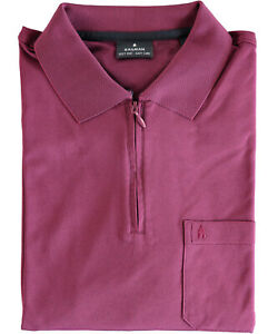 RAGMAN Herren RAGMAN Softknit-Poloshirt Langarm mit Zip NEU