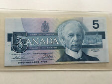 1986 BANK OF CANADA 5 DOLLAR REPLACEMENT BANK NOTE FNX6430526