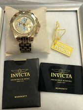 Invicta Watch 18854 Aviator 47mm Quartz Chrono SS Gold Tone NEW