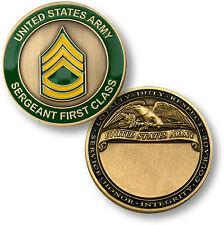 US Army Sergeant First Class Challenge Coin E-7 SFC Rank Insignia United States
