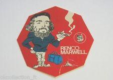 VECCHIO ADESIVO / Old Sticker COMANDANTE CHE GUEVARA (cm 10) Renco Marwell rosso