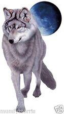 WOLF  FULL MOON A5 LIGHT  IRON ON T SHIRT TRANSFER