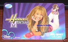 WalMart Disney Hannah Montana Miley Cyrus 2008 Gift Card VL-5467