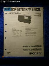 Sony Service Manual ICF M760S /M760SL  PLL Synthesized Radio (#5501)