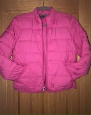 Pre-Loved 100% Auth Ralph Lauren, Girls Pink Jacket With Green Pony. 12-14 YRS