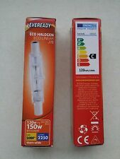 Eveready Halogen R7s cap 78mm  Linear ECO Halogen Bulb 240v 120 W =150 W 2 Pack