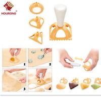 4 x Dumpling Moulds Ravioli Meat Pastry Pie Jiaozi Calzon Press Cutter Empanada