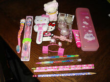 Hello Kitty Mixed Item Lot Lip Gloss, Hair Accessories, Pencils