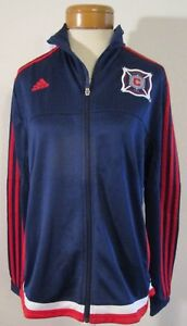 NWT Adidas Chicago Fire Womens Full Zip Anthem Jacket XL Navy/Scarlet MSRP$90