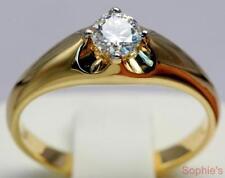 Diamond Yellow Gold 18k Engagement Rings