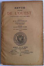 TITRES CROISADES Collection COURTOIS REVUE Historique OUEST VANNES Bretagne 1896