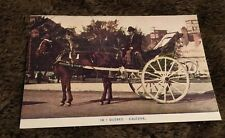 Vintage Postcard Unposted Caleche Man On Horse Drawn Buggy Quebec  Canada