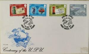 """Jersey Stamps """"Centenary of the U.P.U."""" First Day Cover 1974"""