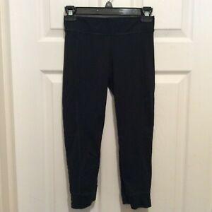 CAbi Cropped Legging XS Black Stretch Cuff