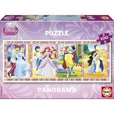 EDUCA puzzle PANORAMA 100 pièces DISNEY Les princesses  - 6+ NEUF