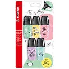 Stabilo Boss Mini Resaltador Plumas-Pastel Amor-Paquete de 5