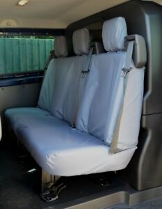 Grey Tailored Waterproof Seat Covers Rear Crew Cab for Ford Transit Custom 2013+