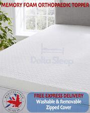 Memory Foam Mattress Topper Orthopaedic Protector Single Double Kingsize