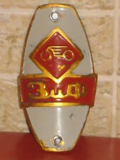 Emblem Bicycle Bike ZIF HEAD BADGE 1960 Plaque Old Russian Soviet Nameplate Tag
