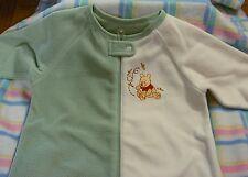 New Disney Winnie the Pooh Green & White Sleeper Blanket