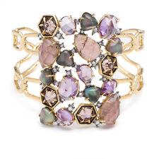 Alexis Bittar Gold  Encrusted Mosaic Cuff Bracelet.